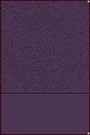 KJV Personal Size Giant Print Reference Bible Royal Purple Leather-soft