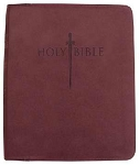 KJVer Sword Study Bible Thinline/Personal Size Burgundy Leathersoft
