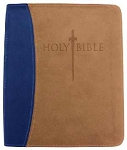 KJVer Sword Study Bible Personal Size/Large Print Blue/Tan Leathersoft