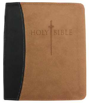 KJVER Sword Thinline Bible -Personal Sz Large (10 pt)Print - Burgundy Ultrasoft