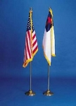Flag Set - Christian & American Flag