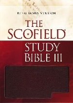 KJV Scofield Study Bible III Black Genuine Leather Index
