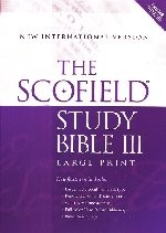 NIV Scofield Study Bible III Burgundy Bonded Leather Index Large Print