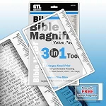 Magnifier-3 In 1 Bible Magnifier Value Pack (6x9)