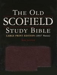 KJV Old Scofield Study Bible Large Print Black Bonded Leather