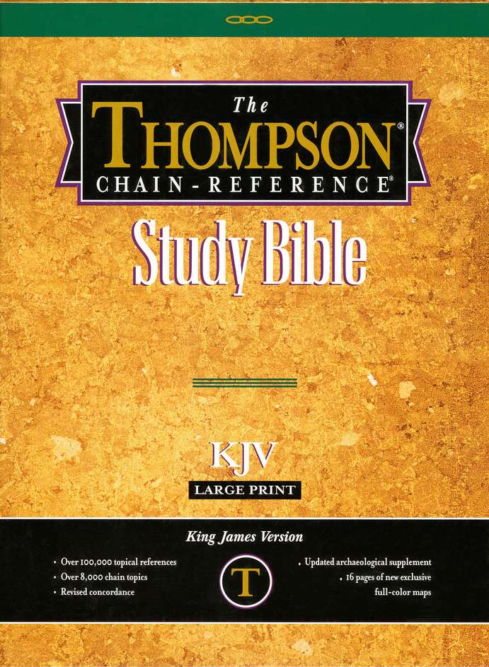 Large Print King James Version (KJV) Genuine Leather