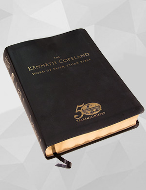 The Kenneth Copeland Word of Faith Study Bible Black Leathersoft