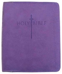 KJVer Bible Thinline/Large Print Purple Leathersoft