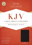 KJV Large Print Ultrathin Reference Bible-Premium Black Genuine Leather