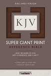 KJV Super Giant Print Reference Bible Brown Flexisoft