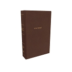 NKJV Deluxe Super Giant Print Reference Bible Mahogany Leathersoft